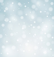 Blue Christmas background with white snowflakes vector image