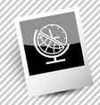 globe and clock vector image