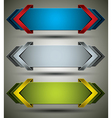 Horizontal banners vector image