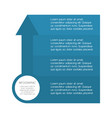 infographic template with basic information vector image
