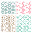 mesh geometric seamless pattern in modern korean vector image