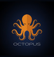 octopus design on dark blue background aquatic vector image
