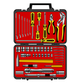 tools in a box vector image