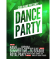 Dance Party Poster Template Night Dance Party vector image