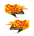 hot sale price offer deal labels templates vector image