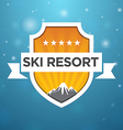 logotype ski resort five star vector image vector image