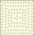 Native creamy yellow background pattern vector image