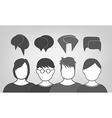 People talking background vector image