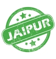 Jaipur green stamp vector image