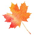 Maple leaf Autumn fall Dotwork vector image