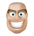 Happy man face vector image