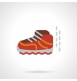 Baby shoe flat color design icon vector image