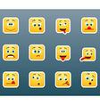 Set of emoticon smile stickers vector image