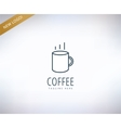 Caffee logo icon Caffe drink or vector image