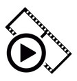 isolated filmstrip icon vector image