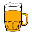 Mug of beer icon cartoon vector image