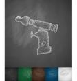 orthopedic drill icon vector image