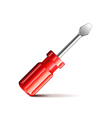 Screwdriver isolated on white vector image
