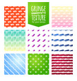 set of colorful template for a business card vector image
