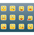 Set of emoticon smile stickers vector image