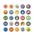 shopping and commerce icons 1 vector image