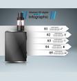 vape vaper smoke - business infographic vector image