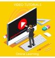 Video Tutorial Isometric People vector image