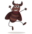 A smiling beetle vector image vector image