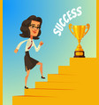 happy smiling business woman character vector image vector image