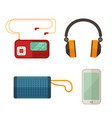 listen to music devices vector image vector image