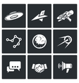 Aliens search Contact icons vector image