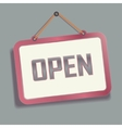 Open hanging Sign on the Wall vector image