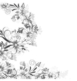 Floral pattern of daisies vector image