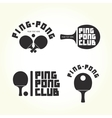 Ping-pong club isolated logotypes vector image