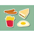 Fast food stickers vector image vector image