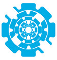 abstract symbol of blue color gears on a white vector image