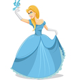 Beautiful Princess with Magic Bird vector image