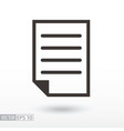 document flat icon sign file vector image