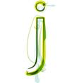 Green letter J vector image