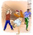 Group of Men Breakdancing vector image