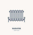 radiator flat logo line icon house heating vector image