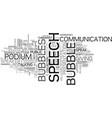 speech word cloud concept vector image