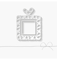 template of the greeting card with a gift box vector image