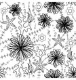 marine flowers coloring vector image