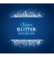 Shiny background with glitter frame and space for vector image vector image