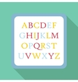 Children abc icon flat style vector image