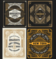cards set western style vector image vector image