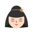 cute woman japanese cartoon vector image vector image