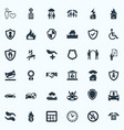 set of simple fuse icons vector image