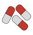 capsules medicine isolated icon vector image
